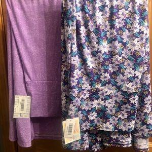 2 LuLaRoe Maxi Skirts both Size L